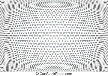 Stars pattern. 3D illusion. Convex textured background. Vector art.
