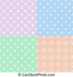 Stars pattern seamless background