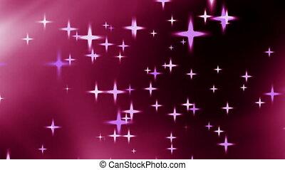 Stars - Pink stars background loop
