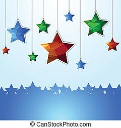 stars polygonal illustration