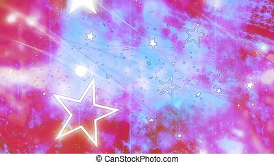 Stars pop grunge texture loop