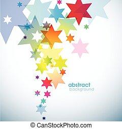 stars., résumé, arrière-plan coloré