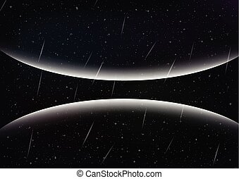 stars., résumé, fond, espace