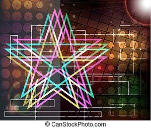 stars., résumé, techno, fond