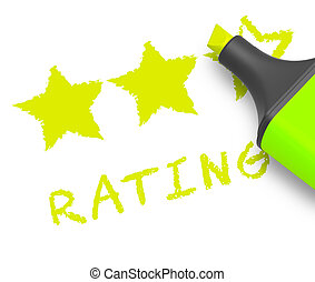 Stars Rating Displays Performance Report 3d Illustration