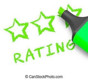 Stars Rating Means Performance Report 3d Illustration