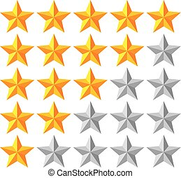 stars rating vector illustration