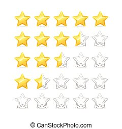 Stars Rating. Vector