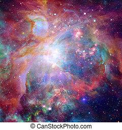 stars., science, résumé, nébuleuse, arrière-plan., galaxie