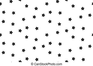 Stars seamless pattern black white abstract background