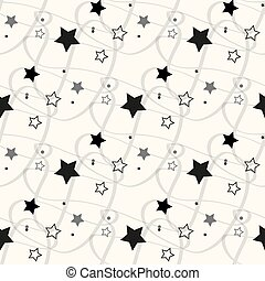 Stars Seamless Pattern. The vector image. Starry night sky