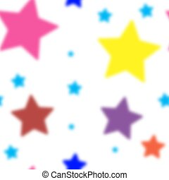 Stars Seamless Pattern. The vector image. Starry night sky. Multicolor stars seamless pattern.