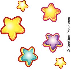 stars., set, cartone animato
