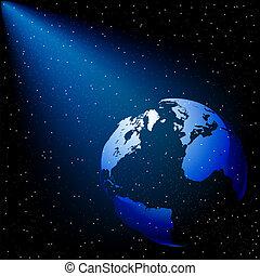 stars sky globe