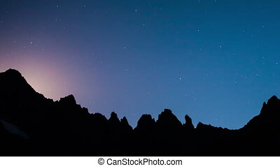 Stars Sky Turning Space Astrophotog