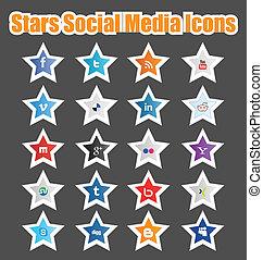 Stars Social Media Icons 1