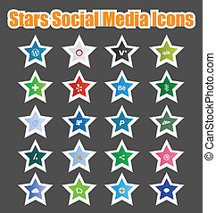 Stars Social Media Icons 2