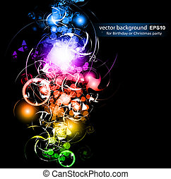 Stars Sparkle Background with Rainbow Gradient