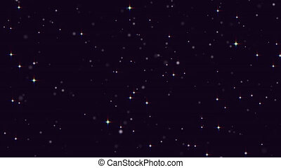 Stars, Starry night sky, Twinkling lights