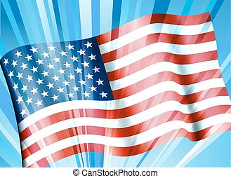 Stars & Stripes American Flag