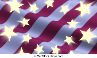 Stars Stripes American Flag Loop