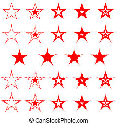 stars., tervezés, elements.