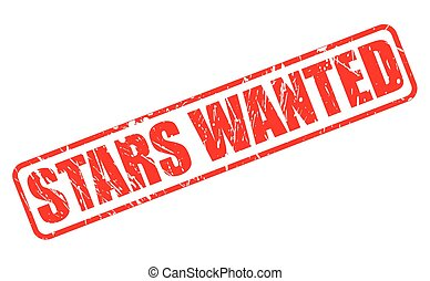 STARS WANTED red stamp text