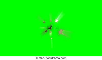 Stars Wipe Transition on green screen
