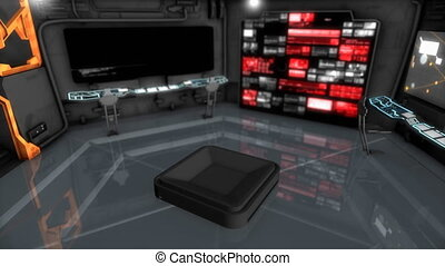 """""""Starship command room, science fiction spaceship control ..."""