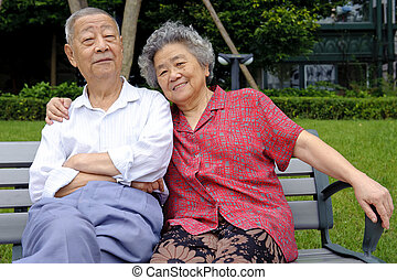 starsza para, obejmował, intymny