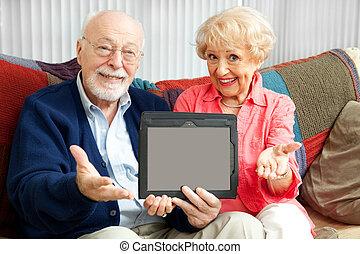 starsza para, wiadomość, ty