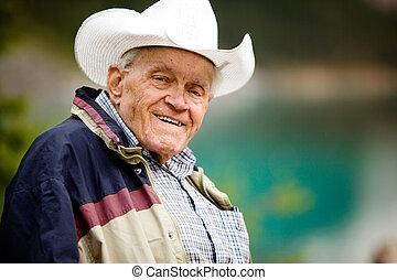 starszy człowiek, portret