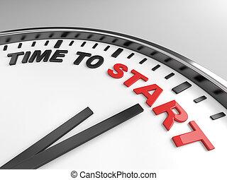 start, čas
