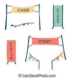 start and finish banner
