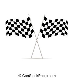 start and finish flags illustration