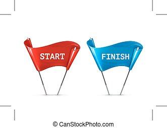 Start and Finish icons