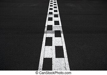 Start and Finish race line asphalt Monaco Grand Prix circuit