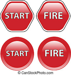 start and stop button