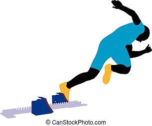 start athlete men sprinter