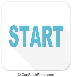 start blue flat icon