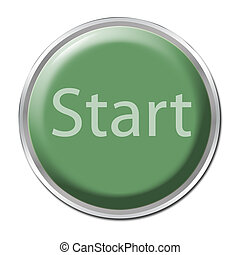 """Green button with the word """"Start"""""""