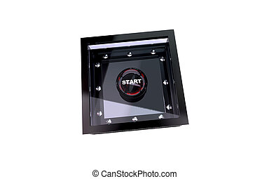 Start button in armored box