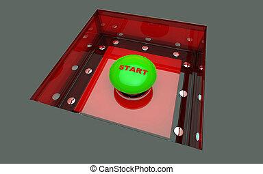 Start button in box
