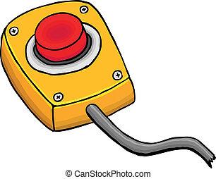 Start button - Painted start button, vector illustration