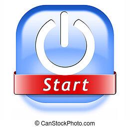 start button game