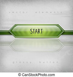 Start Button - Start button on the gray background. Glossy...
