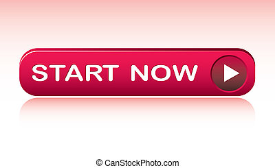 start button - vector illustration of start button with...