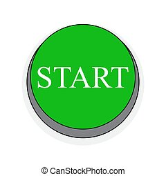 Start button. Vector illustration