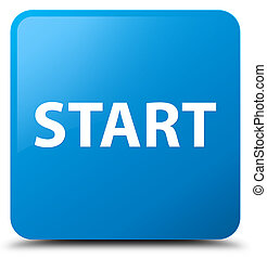 Start cyan blue square button