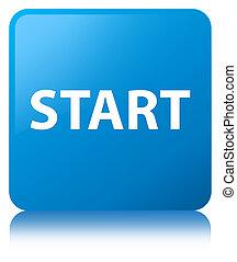 Start cyan blue square button